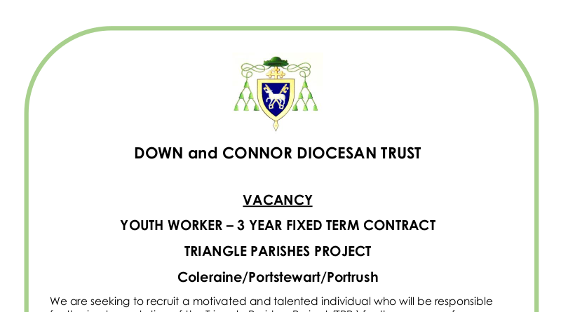 YOUTH WORKER – 3 YEAR FIXED TERM CONTRACT: